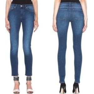 Acne Studios Skin 5 Used Blue Mid Rise Skinny Jean